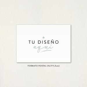 """Invitación boda - """"TU DISEÑO AQUÍ"""" Formato POSTAL"""