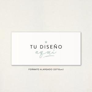 """Invitació casament - """"EL TEU DISSENY AQUÍ"""" Format ALLARGAT"""