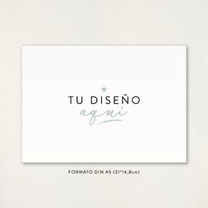 """Invitación boda - """"TU DISEÑO AQUÍ"""" Formato DinA5"""