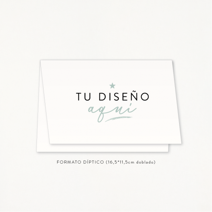 """Invitación boda - """"TU DISEÑO AQUÍ"""" Formato DÍPTICO"""