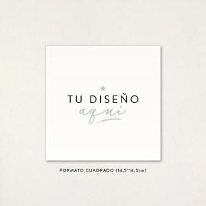 """Invitació casament - """"EL TEU DISSENY AQUÍ"""" Format Quadrat"""