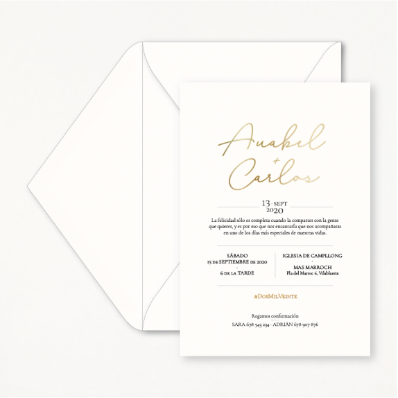 "Invitación boda - ""GOLD"" 