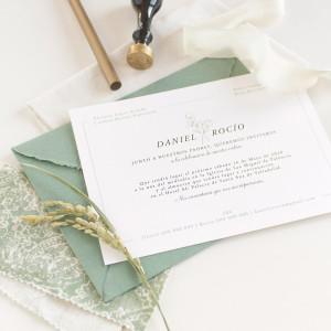 "Invitación boda - ""ARTESANAL"""