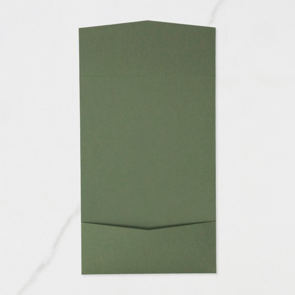 "Carpeta Bolsillo Postal | Horizontal - ""VERDE OLIVO"" 