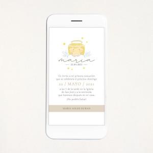 """Invitació digital comunió - """"ANGELET NENA"""""""