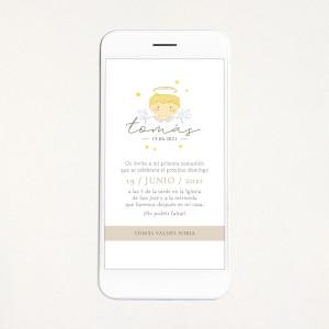 """Invitación digital comunión - """"ANGELITO NIÑO"""""""