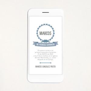"""Invitació digital comunió - """"MARINER"""""""