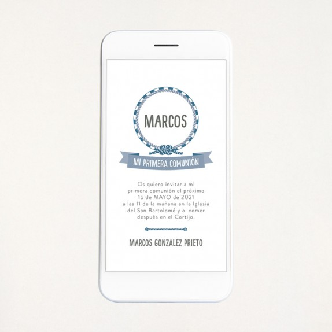 """Invitación digital comunión - """"MARINERO"""""""