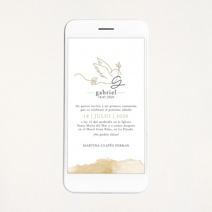 """Invitación digital comunión - """"PALOMA"""""""