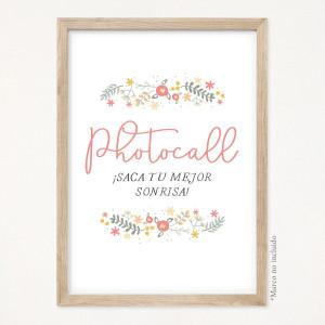 """Cartel comunión - """"FLORAL"""""""