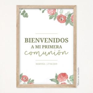 """Cartel comunión - """"INICIAL ESTAMPADA"""""""