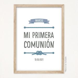 """Cartel comunión - """"MARINERO"""""""