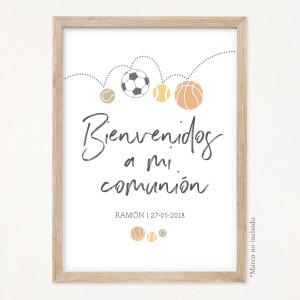 "Cartel comunión - ""SPORT"""