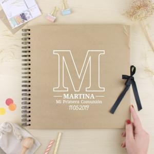 """Àlbum comunió -""""INICIAL ESTAMPADA"""""""