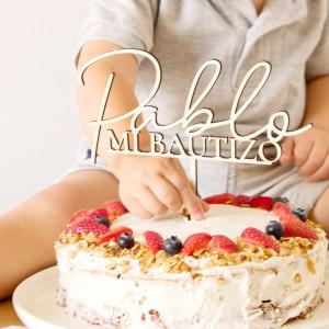 "Cake topper bateig - ""NOM"""