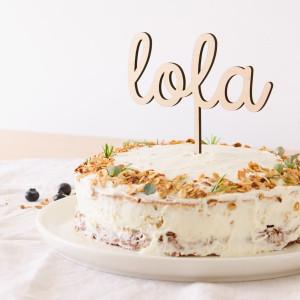 "Cake topper - ""NOMBRE"""