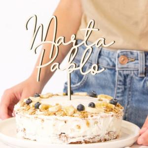 "Cake topper casament - ""NOSALTRES"""