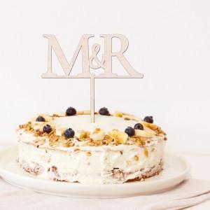 "Cake topper boda - ""INICIALES"""