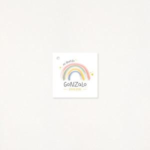 """Tarjeta Detalle bautizo - """"RAINBOW"""""""