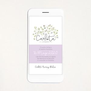 "Invitació digital bateig - ""NATURE"" | This Is Kool"