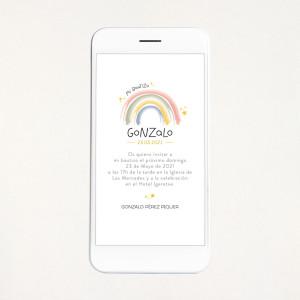 "Invitación digital bautizo - ""RAINBOW"" | This Is Kool"