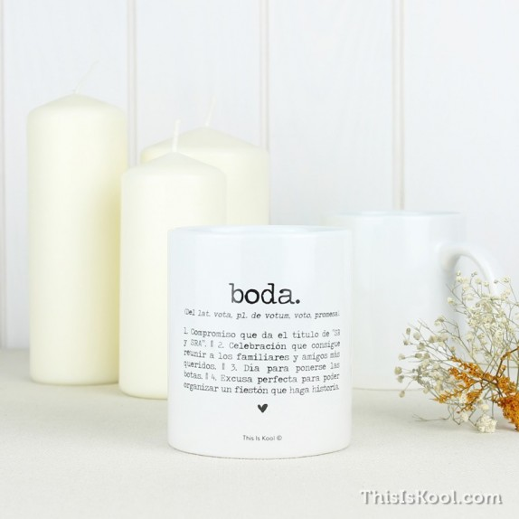 "Taza boda ""BODA"" 
