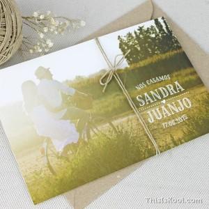 """Invitación boda - """"POSTAL"""""""