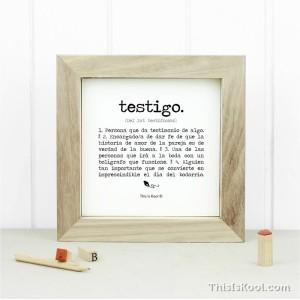 "Lámina con marco - ""TESTIGO"" | This Is Kool"