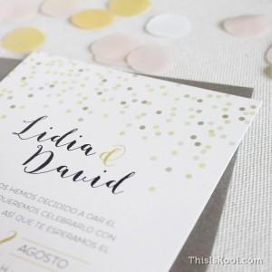 "Invitación boda - ""CONFETTI"""