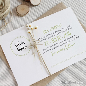 """Invitació casament - """"OLIVERA"""""""