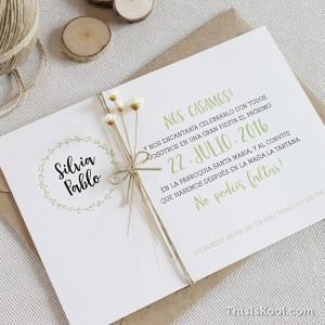 """Invitación boda - """"OLIVO"""""""