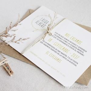 """Invitació casament - """"SILVESTRE"""""""