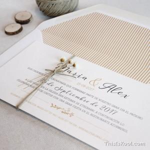 """Invitació casament - """"ROMÀNTICA"""""""