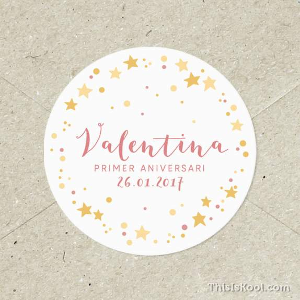 """Adhesius aniversari - """"CONSTEL·LACIONS"""" Rosa"""