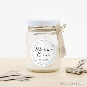 """Espelma vidre casament - """"NIT"""""""