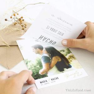 """Invitació casament - """"SHINE"""""""