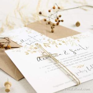 """Invitación boda - """"BOTÁNICA OCRE"""""""