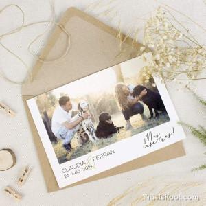 """Invitación boda - """"POSTCARD"""""""