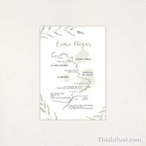 "Mapa casament - ""GREEN""|This Is Kool"