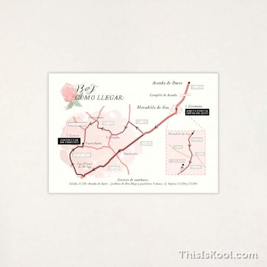 "Mapa boda - ""PEONIAS"" | This Is Kool"