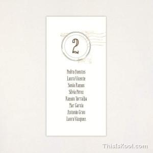 "Llista taula casament - ""POSTAL"""