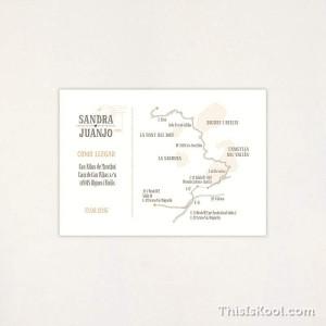 "Mapa boda - ""POSTAL"" | This Is Kool"