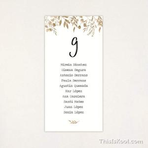 """Lista mesa boda - """"BOTÁNICA OCRE"""""""