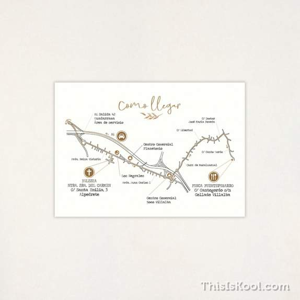 "Mapa boda - ""BOTÁNICA OCRE"""