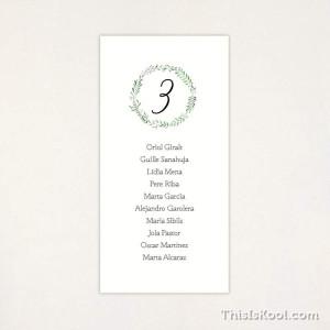 """Lista mesa boda - """"CORONA OLIVO"""""""