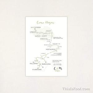 "Mapa casament - ""CORONA VERDA"""