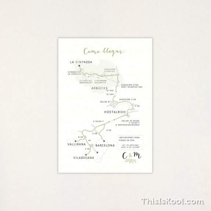 "Mapa casament - ""CORONA VERDA"" | This Is Kool"