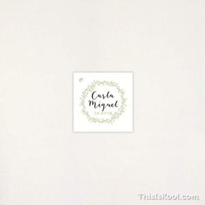 "Targeta Detall casament - ""CORONA VERDA"" | This Is Kool"