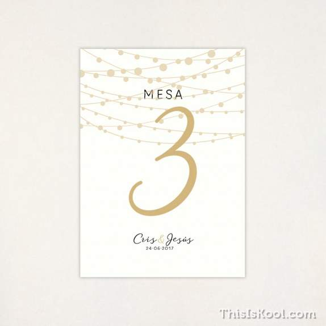 "Número mesa boda - ""VERBENA"" | This Is Kool"