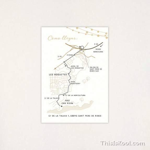 "Mapa boda - ""VERBENA"""